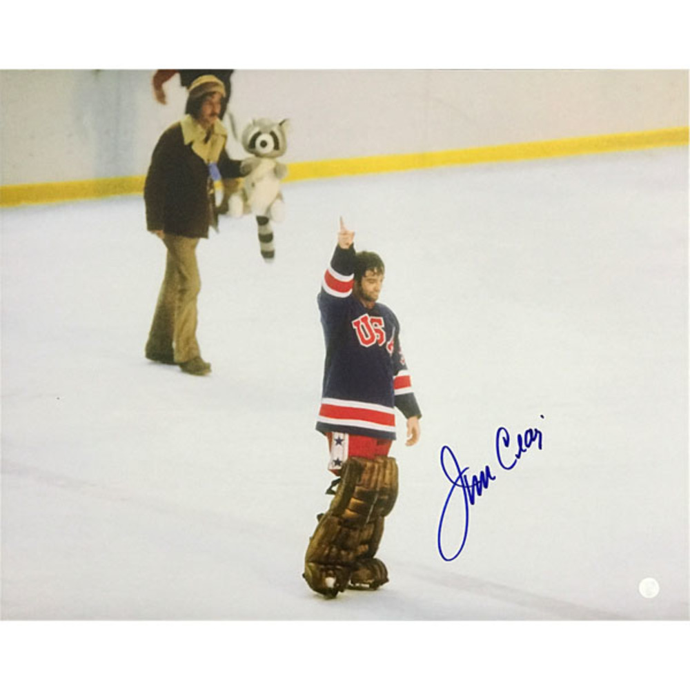 Jim Craig Autographed Team USA 16X20 Photo