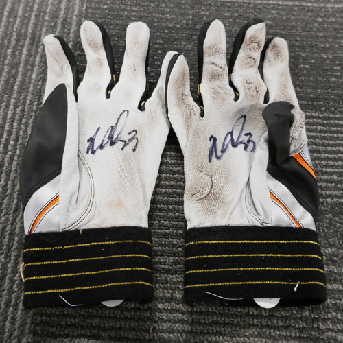 Photo of San Francisco Giants - Autographed Batting Gloves - Nori Aoki (pair)