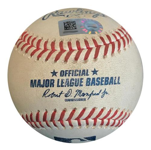Photo of Game-Used Baseball from Pirates vs. Cubs on 8/1/18 - Heyward Double, 2 Pitches to Baez