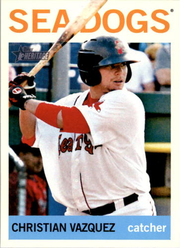 Photo of 2013 Topps Heritage Minors #8 Christian Vazquez