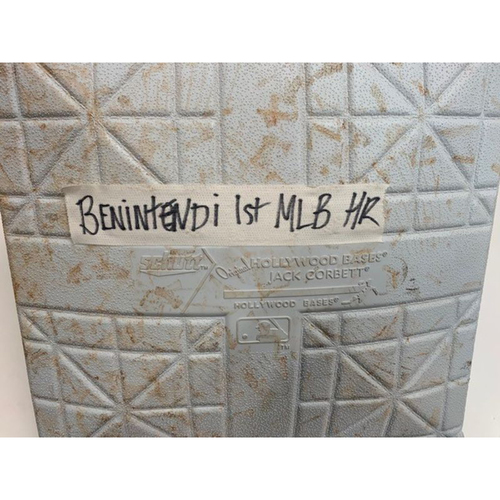 Photo of Game-Used Base: Andrew Benintendi 1st Career Home Run