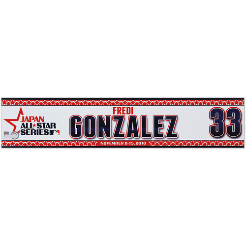 Photo of 2018 Japan Series Game-Used Locker Tag - Fredi Gonzalez -  Marlins