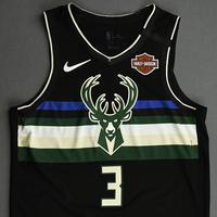 George Hill - Milwaukee Bucks - 2020 NBA Paris Games - Game-Worn Statement Edition Jersey