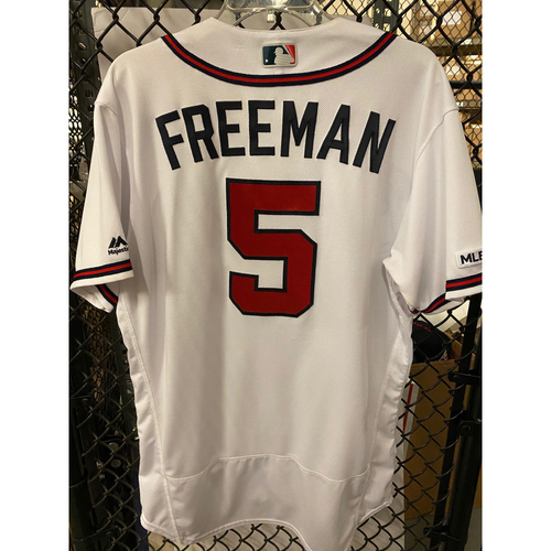 Photo of Freddie Freeman Game Used Home White Jersey - Worn 7/3/19 and 7/4/19 - Home Run (7/4)