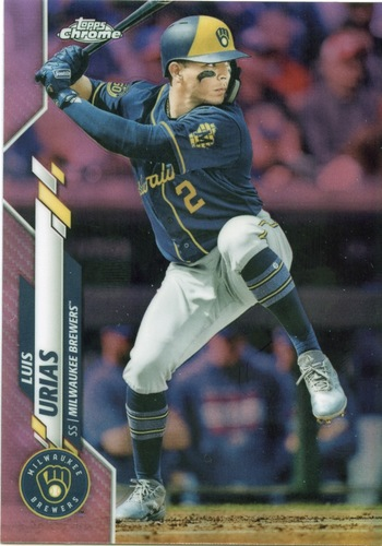 Photo of 2020 Topps Chrome Pink Refractors #169 Luis Urias
