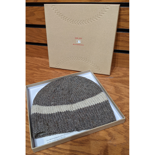 Photo of Tokens & Icons Game Used Baseball Yarn Knit Hat