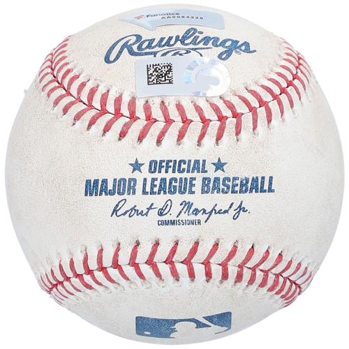 Photo of Game-Used Baseball - NYY vs. NYM - 8/30/2020 (Game 2) - Pitcher - Drew Smith, Batter - Gary Sanchez, Top 8, Grand Slam Home Run