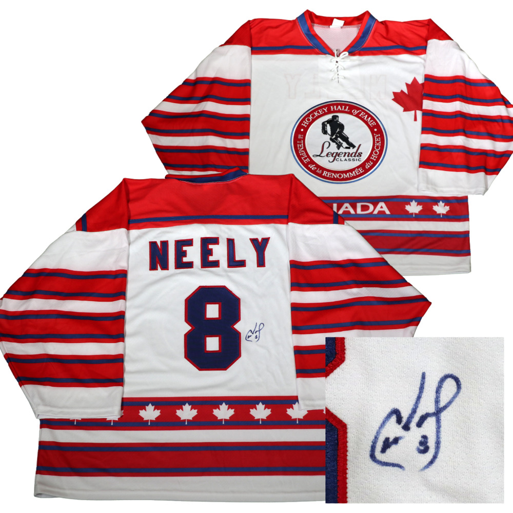 Autographed Cam Neely Game-Issued Legends Classic Jersey