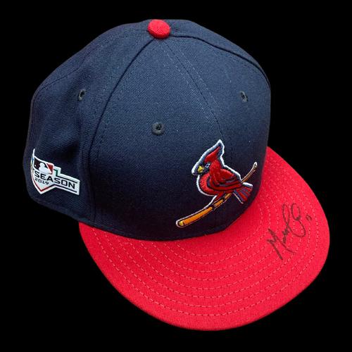Photo of Matt Carpenter Autographed Team Issued Alternate Cap w/ 2019 Postseason Patch (Size 7 3/8)