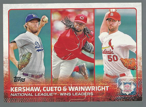 Photo of 2015 Topps #85 Adam Wainwright/Johnny Cueto/Clayton Kershaw LL
