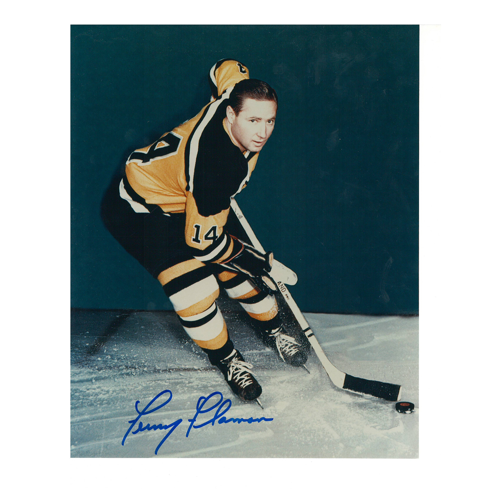 FERN FLAMAN Signed Boston Bruins 8 X 10 Photo - 70032