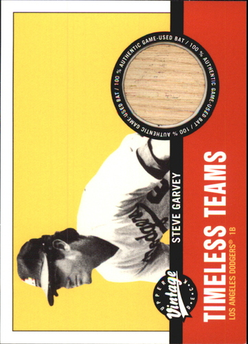 Photo of 2001 Upper Deck Vintage Timeless Teams #LASG Steve Garvey Used Game Bat