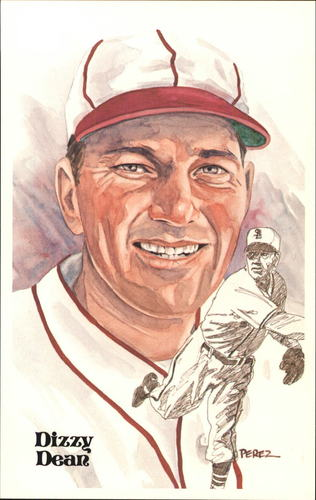 Photo of 1980-02 Perez-Steele Hall of Fame Postcards #66 Dizzy Dean -- HOF Class of 1953