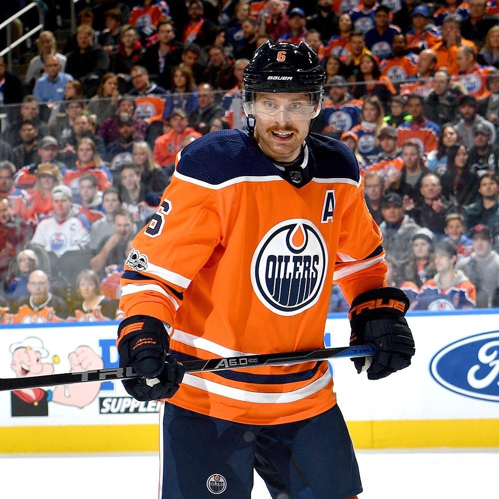 Adam Larsson  6 - Autographed 2017-18 Edmonton Oilers vs Pittsburgh  Penguins Game-Worn Jersey 7e48846e5
