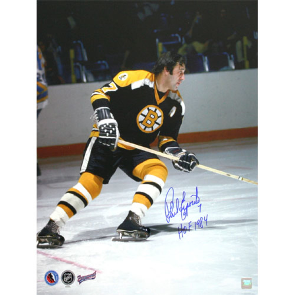 Phil Esposito Autographed Boston Bruins 16X20 Photo