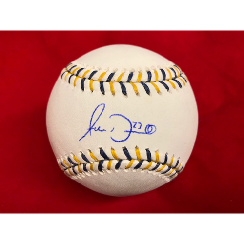 Photo of Adam Duvall -- Autographed 2015 All-Star Game Baseball