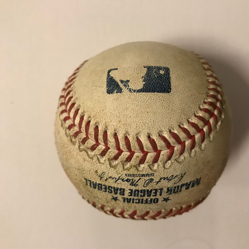 Photo of Nick Markakis Game Used Hit Double Ball - April 20, 2018