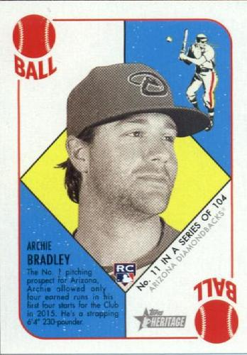 Photo of 2015 Topps Heritage '51 Collection #11 Archie Bradley Rookie Card