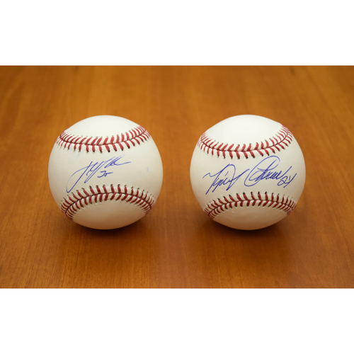 Photo of Justin Verlander and Miguel Cabrera Autographed Baseball Collection