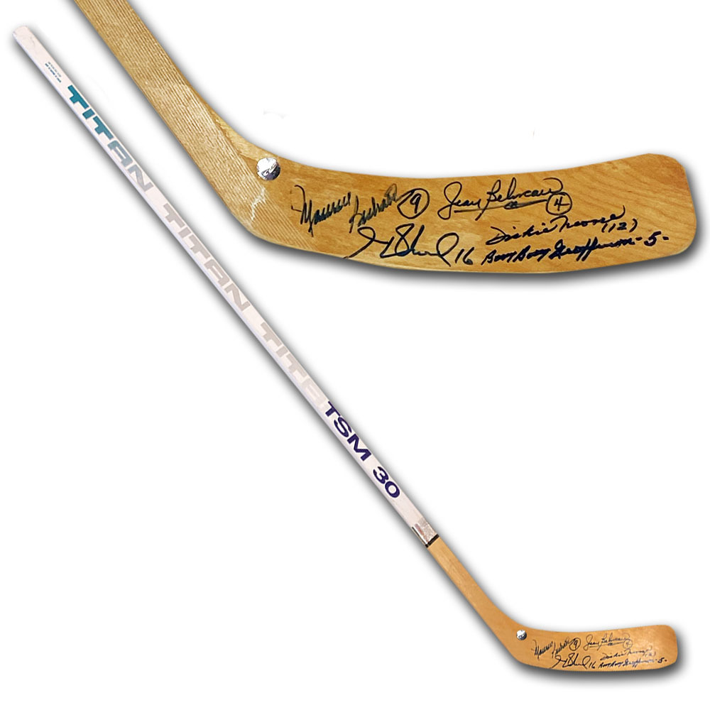 Montreal Canadiens Legends Multi-Signed Titan Hockey Stick