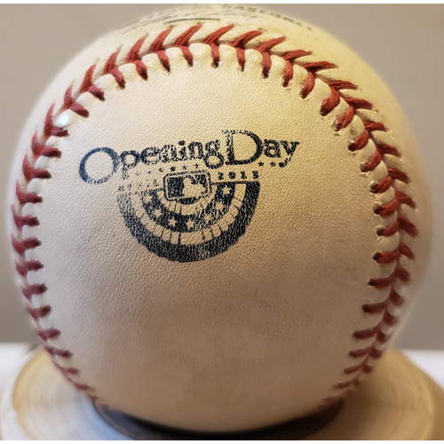 Photo of 2013 Opening Day - San Diego Padres at Colorado Rockies: Game-Used Baseball - Batter: Jesus Guzman, Pitcher: Adam Ottavino - Top of 8, Pitch in Dirt - 4/5/13
