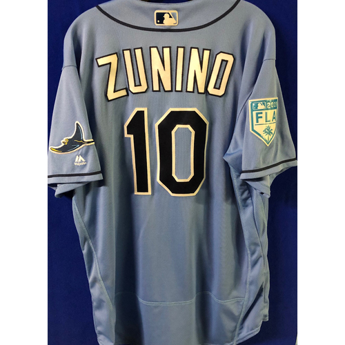 Photo of Game Used Spring Training Jersey: Mike Zunino - March 26, 2019 v DET
