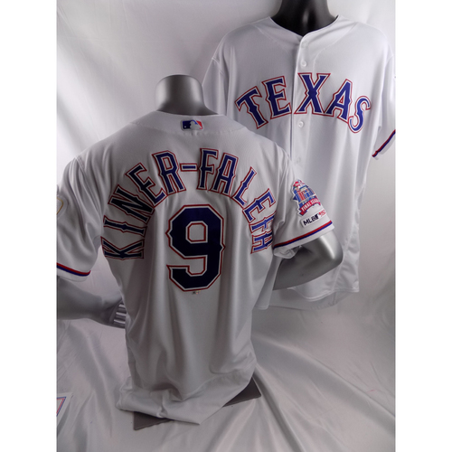 Photo of Game-Used White Opening Day Jersey - Isiah Kiner-Falefa - 3/28/19