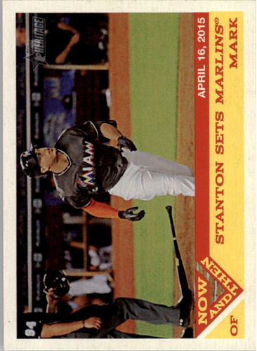 Photo of 2015 Topps Heritage Now and Then #NT3 Giancarlo Stanton