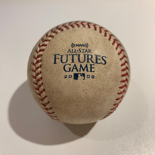Photo of 2008 All Star Futures Game - Game Used Baseball - Batter: Gerardo Parra Pitcher: Casey Weathers - 8th Inning