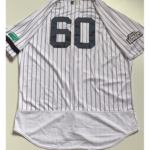 Photo of 2019 London Series - Game-Used Jersey - Mike Harkey, New York Yankees vs Boston Red Sox - 6/29/19