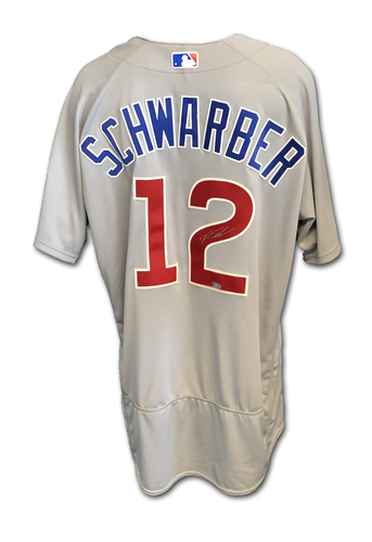 Photo of Kyle Schwarber Autographed Jersey: Size 48