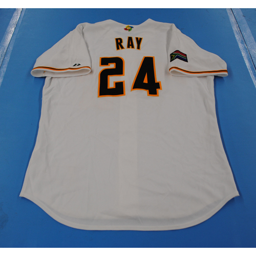 Photo of 2006 Inaugural World Baseball Classic: Gavin Ray Game-worn Team South Africa Home Jersey