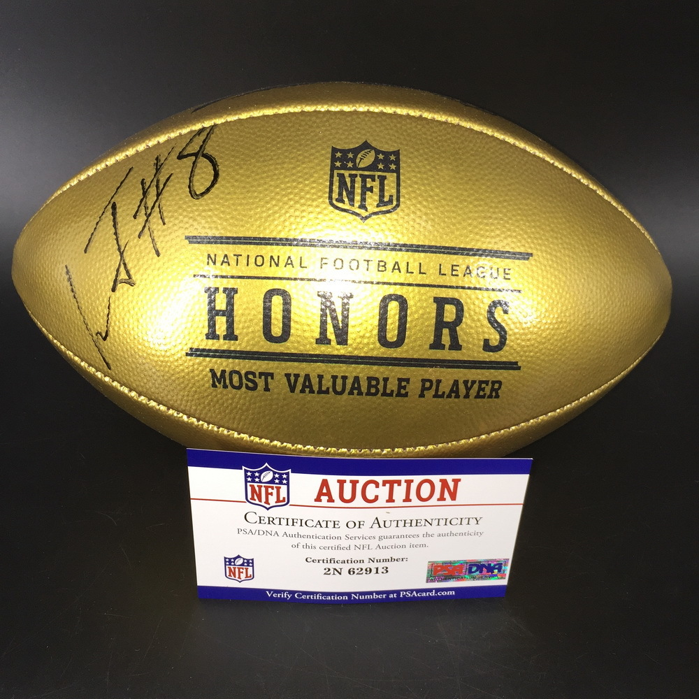 Ravens Lamar Jackson Signed NFL Honors MVP Football with 100 Seasons Logo