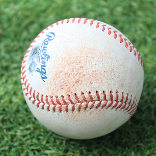 Game-Used Baseball: Sean Poppen 11th Career Strikeout (MIN @ KC 8/8/20)