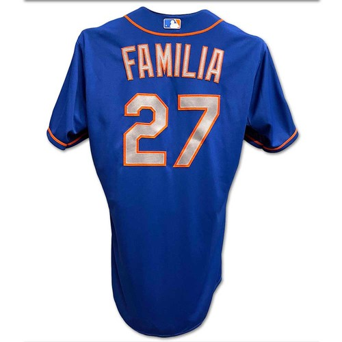 Photo of Jeurys Familia #27 - Team Issued Blue Alt. Road Jersey - 2015 Postseason