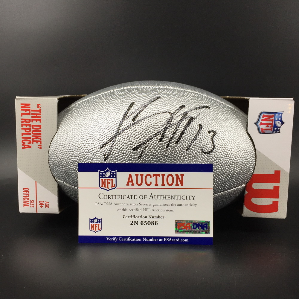 NFL - Chargers Keenan Allen Signed Silver 100 Seasons Commemorative Football