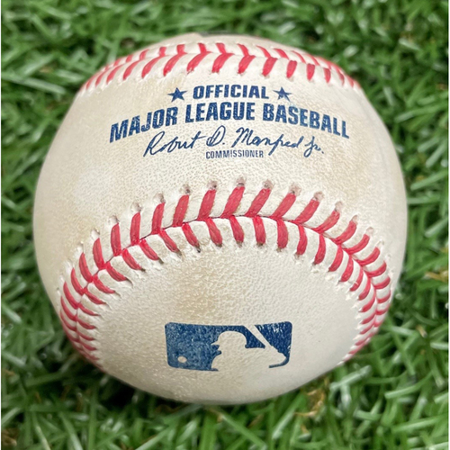 Photo of Game-Used Baseball: Nick Solak 3 RBI Double off Ryan Yarbrough - Top 4 - April 13, 2021 v TEX