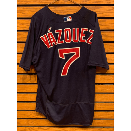 Photo of Christian Vazquez May 8, 2021 Game Used Road Alternate Jersey - 2 for 4, 2 RBIs