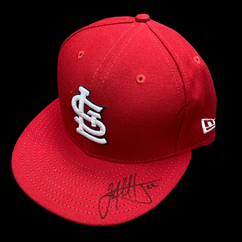 Photo of Jack Flaherty Autographed Team Issued Home Cap (Size 7 1/4)