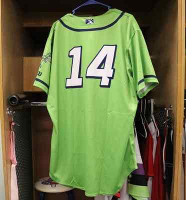 Stockton Ports Jose Rivas Asparagus jersey, #14, Size 48