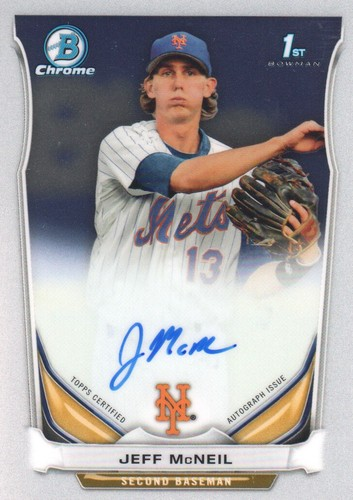 Photo of 2014 Bowman Chrome Prospect Autographs #BCAPJMC Jeff McNeil