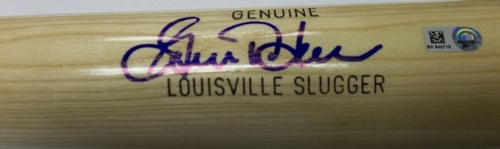 Photo of Gorman Thomas Autographed Louisville Slugger Bat