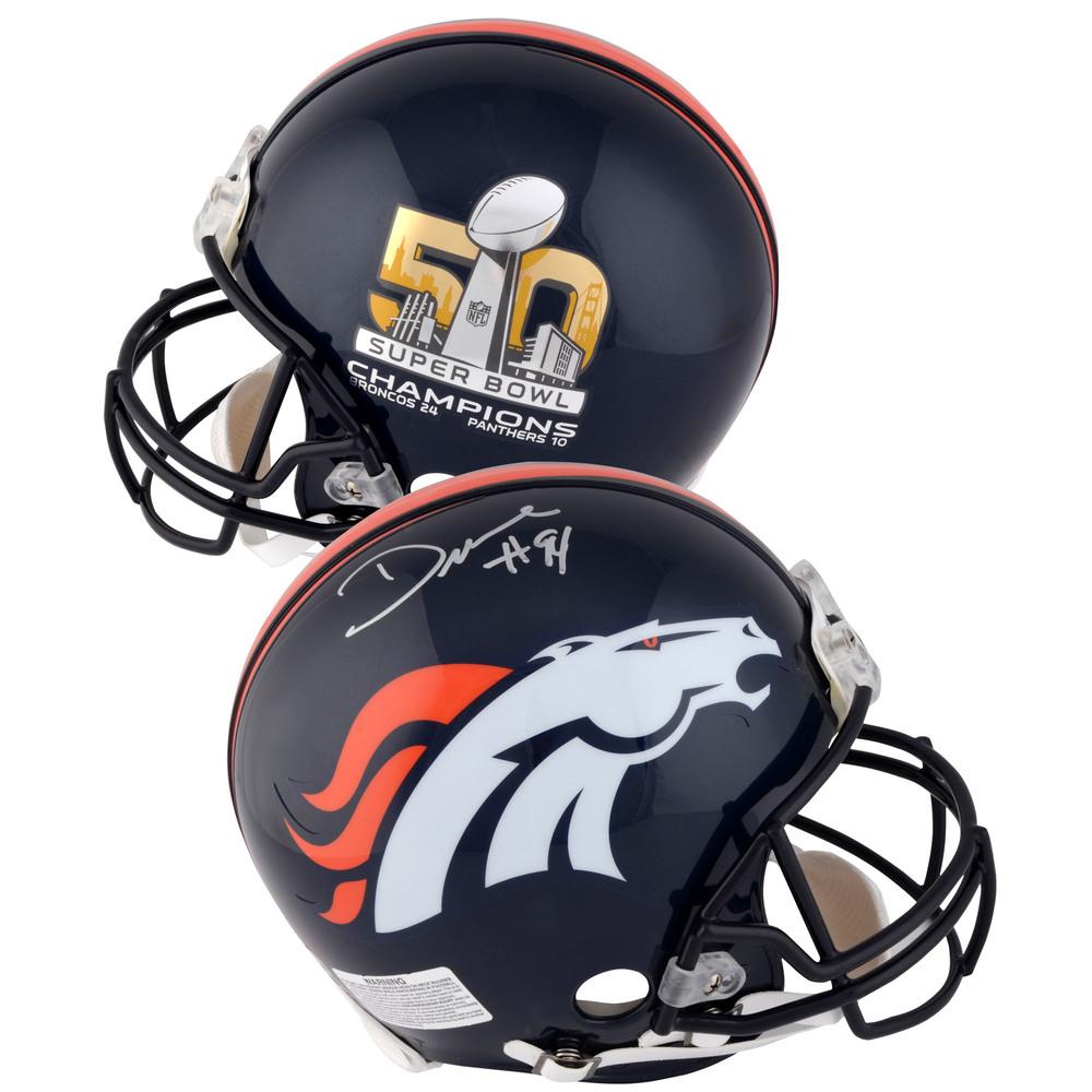 DeMarcus Ware Denver Broncos Autographed Riddell Super Bowl 50 Champions Pro-Line Helmet