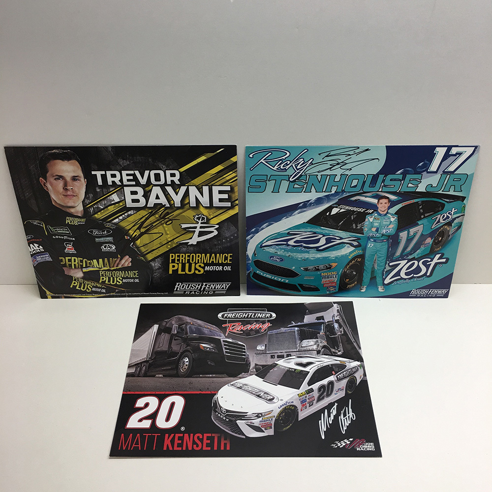 NASCAR's Roush Fenway drivers Autographed Hero Cards!