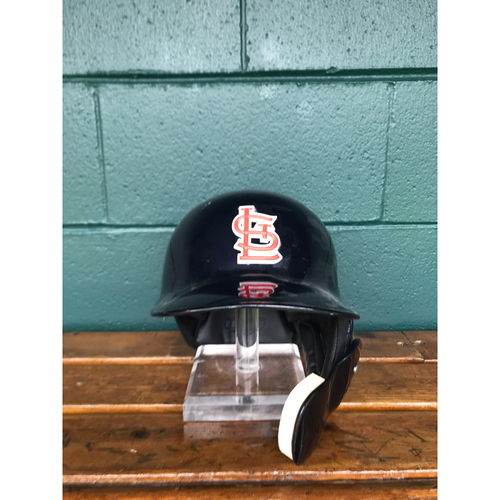 Photo of Cardinals Authentics: Aledmys Diaz Team Issued Road Navy Helmet