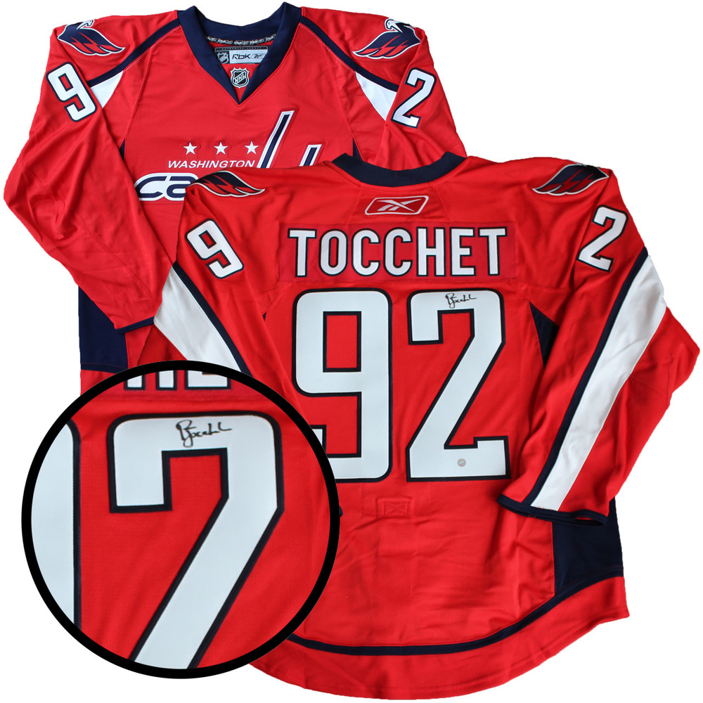 Rick Tocchet Signed Jersey Capitals Pro Red 2015-2016 Reebok