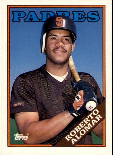 Photo of 1988 Topps Traded #4T Roberto Alomar Rookie Card -- Hall of Fame Class of 2011