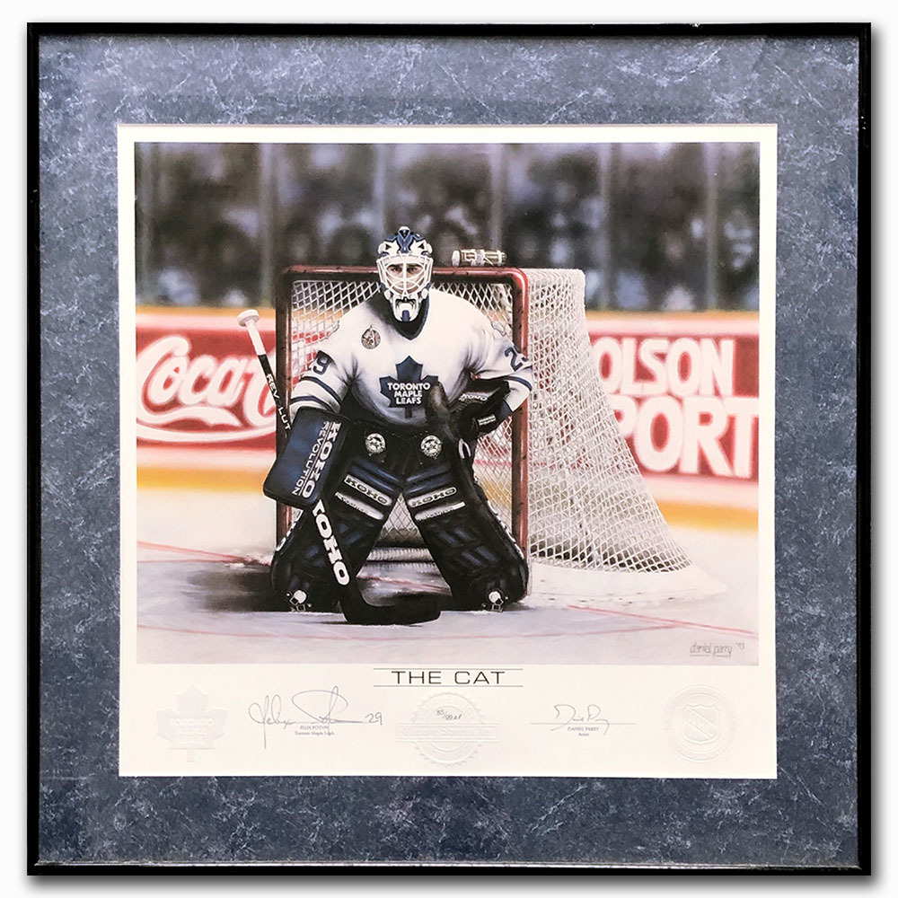 Felix Potvin Autographed Daniel Parry Limited-Edition Framed Artist Proof Lithograph