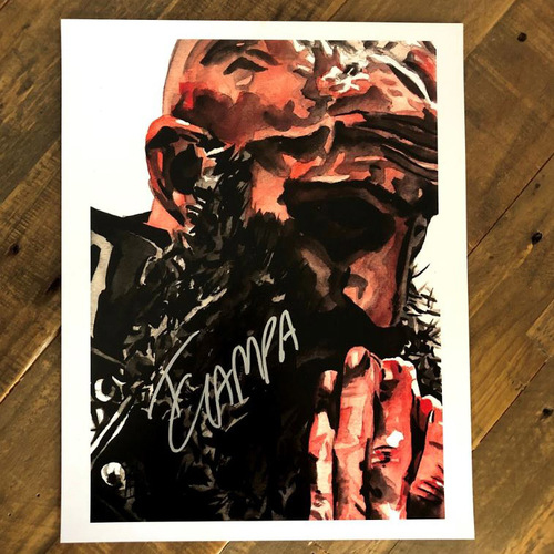 Photo of Tomasso Ciampa SIGNED 11 x 14 Rob Schamberger Print