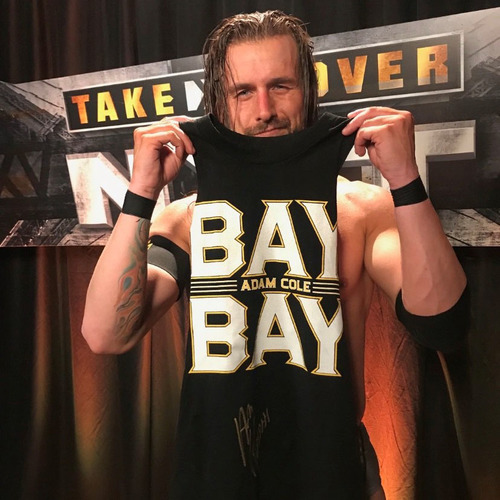 Photo of Adam Cole SIGNED Authentic T-Shirt (NXT TakeOver: XXV - 6/1/19)